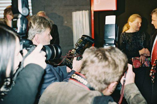 Fotografinnen und Fotografen bei der Eroeffnung der Diagonale'16