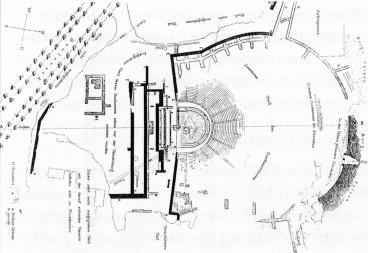 Plan von Ernst Ziller: Dionysostheater in Athen (1878)