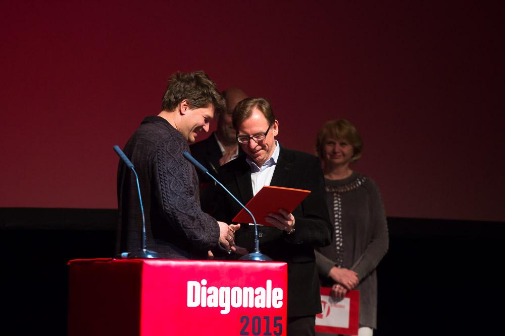 Großer Diagonale-Preisträger Nikolaus Geyrhalter und Landesrat Christian Buchmann © Diagonale/Martin Stelzl
